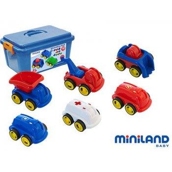 Juego didactico miniland con 10 vehiculos profesionales flexibles para trabajar la educacion vial