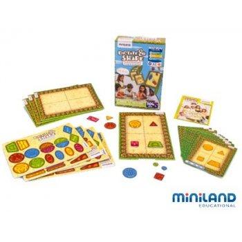 Juego didactico minland dictado visual para formar figuras a partir de tarjetas guia