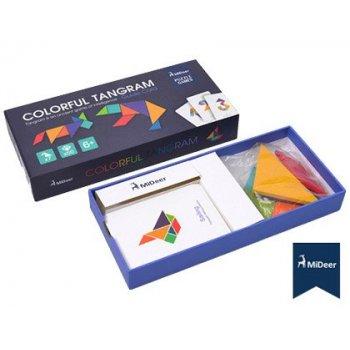 Juego mideer didactico tangram de colores