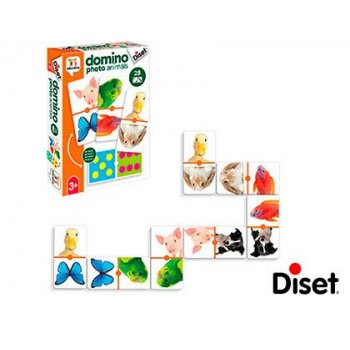 Juego diset educativo domino photo animals