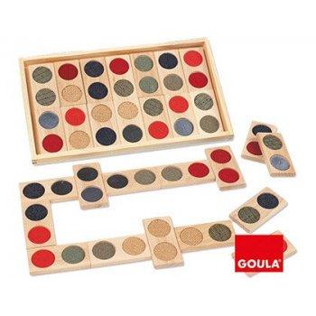 Juego goula didactico domino tactil
