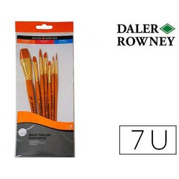 Pinceles daler rowney simply art sintentico mango corto dorado blister de 7 unidades