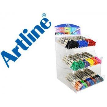 Rotulador artline supreme brush pintura base de agua punta tipo pincel trazo variable expositor de 108