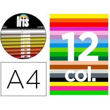 """Cartulina guarro din a4 185 gr contenido """"a"""" 100 hojas blancas + 100 hojas x 12 colores"""
