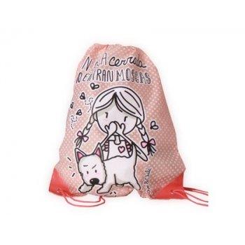 Cartera escolar love&child mochila saco poliester con cuerdas y cantoneras en boca cerrada no entran moscas