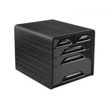 Fichero cajones de sobremesa cep 5 cajones mixtos negro negro 360x288x270 mm