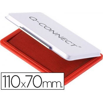Tampon q-connect n.2 110x70 mm rojo