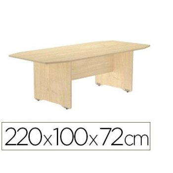 Mesa de reunion rocada meeting 3003aa01 estructura madera haya tablero madera haya 220x100x72 cm