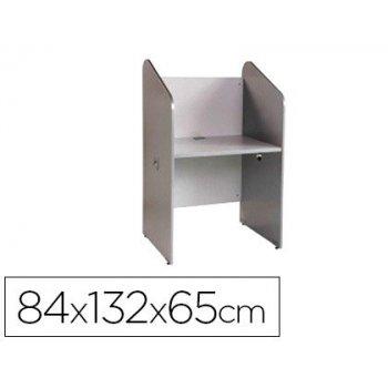Mesa centro de llamadas rocada individual serie welcome 84x132x65 cm acabado ab02 aluminio gris