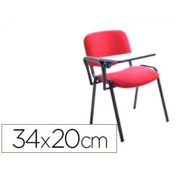 Pala escritura rocada derecha para silla confidente plegable pvc 34x20 cm color negro