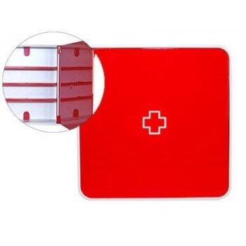 Organizador paperflow plastico 3 estantes para medicinas 320x70x320 mm rojo