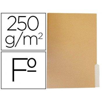 Subcarpeta cartulina gio folio pestaña derecha 250g m2 bicolor