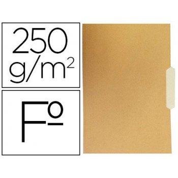 Subcarpeta cartulina gio folio pestaña central 250g m2 bicolor
