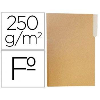 Subcarpeta cartulina gio folio pestaña izquierda 250g m2 bicolor