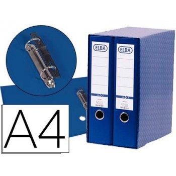 Modulo elba 2 archivadores de palanca din a4 con rado 2 anillas azul lomo de 80 mm