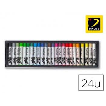 Lapices pastel oleo dalbe caja 24 colores surtidos