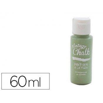 Pintura acrilica vintage chalk efecto tiza verde vegetal vc-15 bote de 60 ml