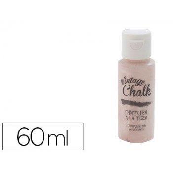 Pintura acrilica vintage chalk efecto tiza rosa cuarzo vc-09 bote de 60 ml