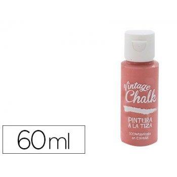 Pintura acrilica vintage chalk efecto tiza rojo granada vc-08 bote de 60 ml
