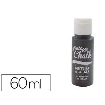Pintura acrilica vintage chalk efecto tiza negro pizarra vc-20 bote de 60 ml