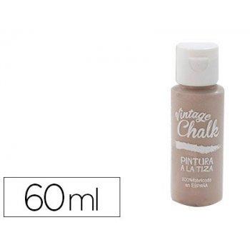 Pintura acrilica vintage chalk efecto tiza marron caramelo vc-19 bote de 60 ml