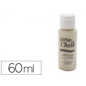 Pintura acrilica vintage chalk efecto tiza beige almendra vc-04 bote de 60 ml