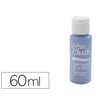 Pintura acrilica vintage chalk efecto tiza azul termal vc-12 bote de 60 ml