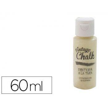 Pintura acrilica vintage chalk efecto tiza amarillo vainilla vc-05 bote de 60 ml