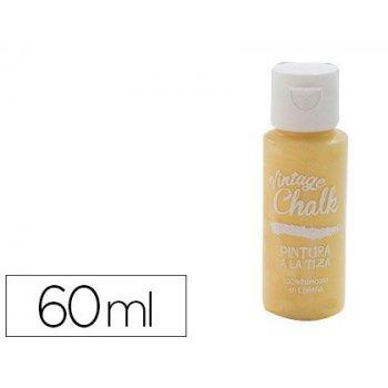 Pintura acrilica vintage chalk efecto tiza amarillo dorado vc-06 bote de 60 ml