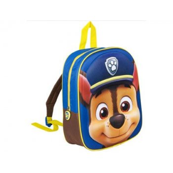 Cartera escolar patrulla canina mochila chase 3d 30x25x9 cm