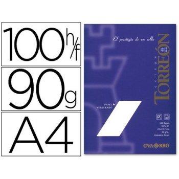 Papel torreon blanco crema a4 90 grs. paquete de 100