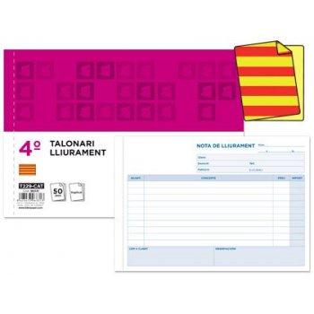 Talonario liderpapel entregas cuarto original t129 apaisado texto en catalan