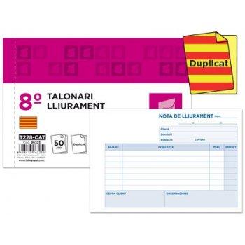 Talonario liderpapel entregas 8º original y copia t228 apaisado texto en catalan