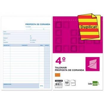Talonario liderpapel pedidos cuarto original y copia t222 texto en catalan