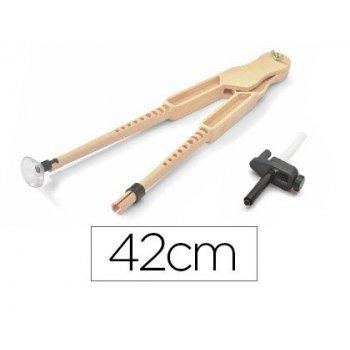 Compas para encerado faibo de plastico con adaptador imitacion madera 42 cm