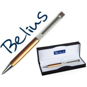 Boligrafo belius granada con cristales oro en estuche