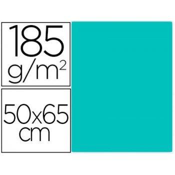 Cartulina guarro verde menta 50x65 cm 185 gr