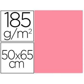 Cartulina guarro rosa chicle 50x65 cm 185 gr