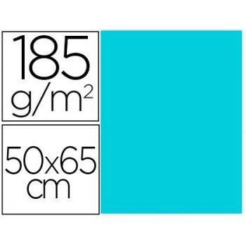 Cartulina guarro azul caribe 50x65 cm 185 gr
