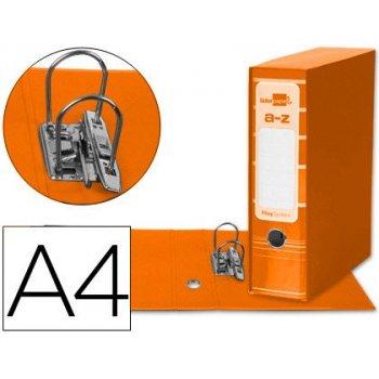 Archivador de palanca liderpap el a4 filing system forrado sin rado lomo 80mm naranja con caja y compresor metalico