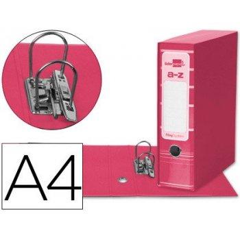 Archivador de palanca liderpap el a4 filing system forrado sin rado lomo 80mm rosa con caja y compresor metalico