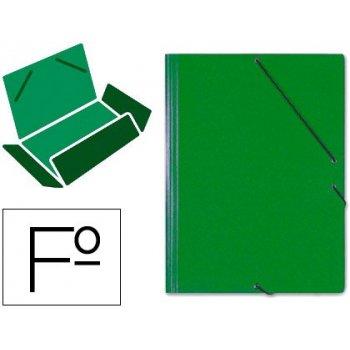 Carpeta gomas solapas carton saro tamaño folio verde