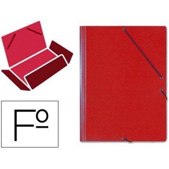 Carpeta gomas solapas carton saro tamaño folio rojo