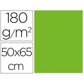 Cartulina liderpapel 50x65 cm 180g m2 verde paquete de 25