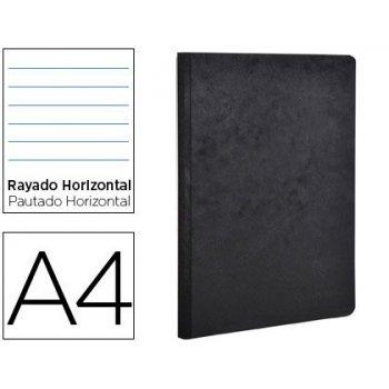 Libreta age-bag tapa cartulina lomo cosido rayado horizontal 96 hojas color negro 210x297 mm