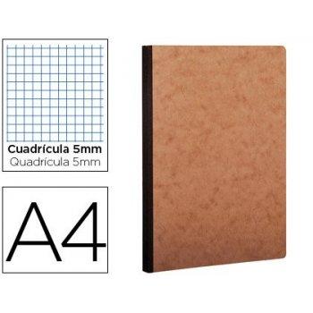 Libreta age-bag tapa cartulina lomo cosido cuadro 5 mm 96 hojas color havana 210x297 mm