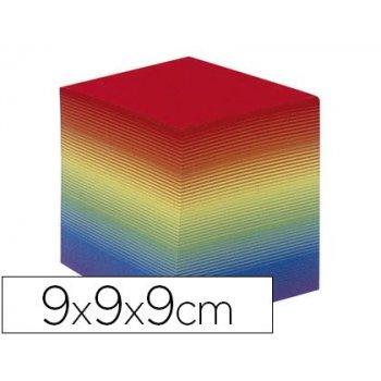Taco papel quo vadis encolado colores arco iris 680 hojas 100% reciclado 90 g m2 90x90x90 mm