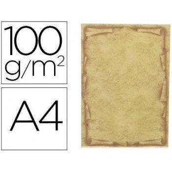 Papel pergamino liderpapel din a4 orla papiro 100 g m2 paquete de 12 hojas