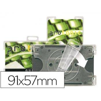 Identificador 3l office para tarjetas de seguridad 91x57 mm rotacion vertical u horizontal pack de 10