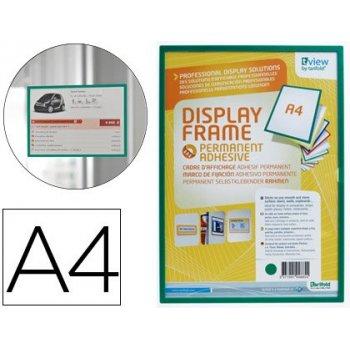 Funda para colgar tarifold din a4 adhesiva verde